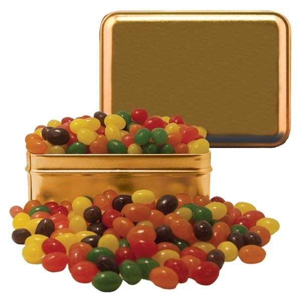 Promotional Small Rectangle Tin Jelly Beans