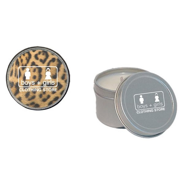 Promotional 2 oz Round Tin Soy Candle