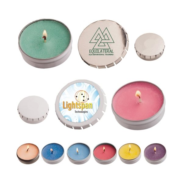 Promotional Snap Top Tin Natural Soy Candle