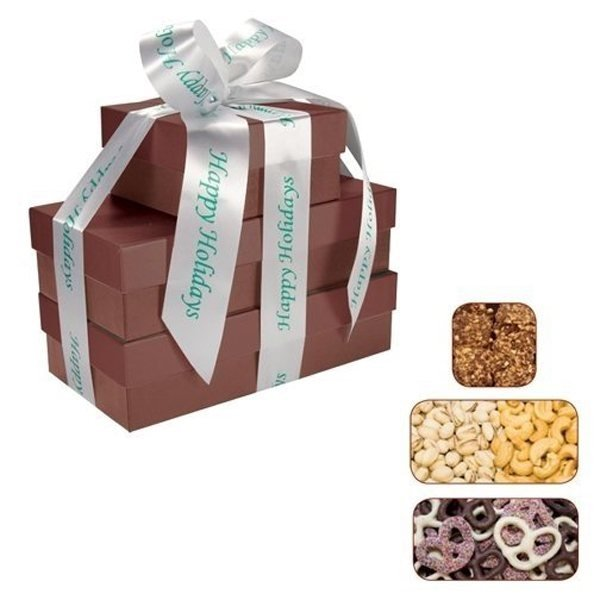 Promotional The Four Seasons - Chocolate Covered Pretzels, Cashews Pistachios Almond Butter Crunch