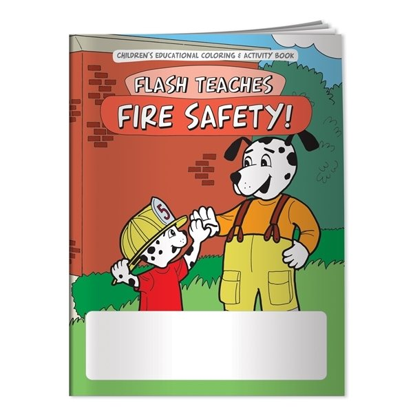 Promotional Coloring Book Flash Teaches Fire Safety