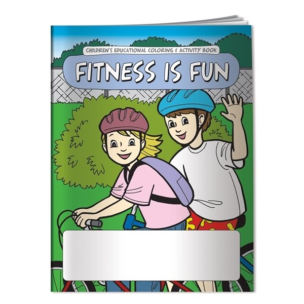 Promotional Coloring Book Fitness is Fun