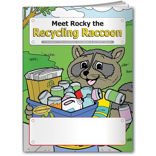 Promotional Coloring Book Meet Rocky the Recycling Raccoon