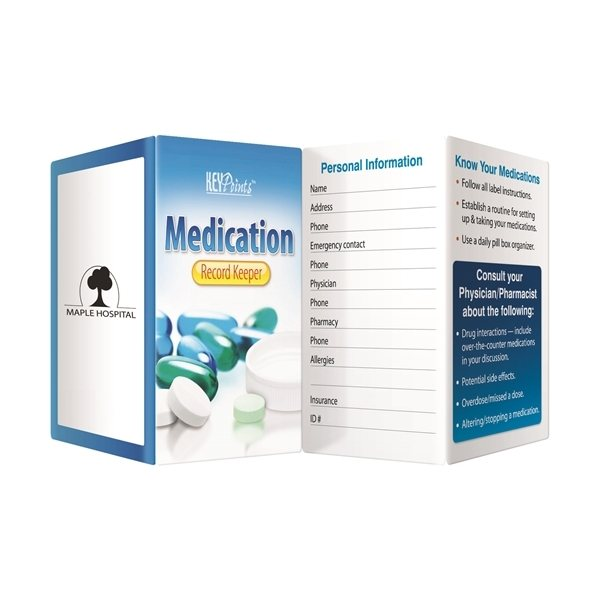 Promotional Key Point Medication Record Keeper