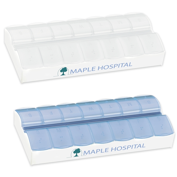 Promotional AM / PM Jumbo Easy Scoop Pill Box