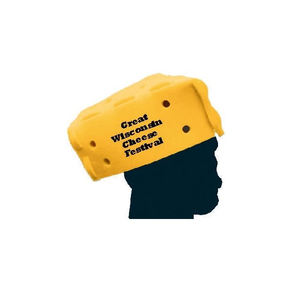Promotional 7 Promotional Foam Cheese Wedge Hat (Assembly Required)