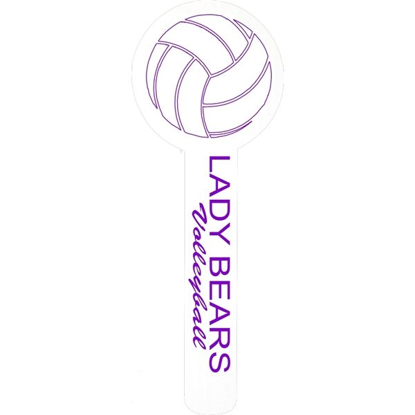Promotional Volleyball Spirit Hand Waver - corrugated plastic
