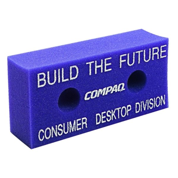 Promotional 7.5 X 3.5 Foam Brick With 2- Holes