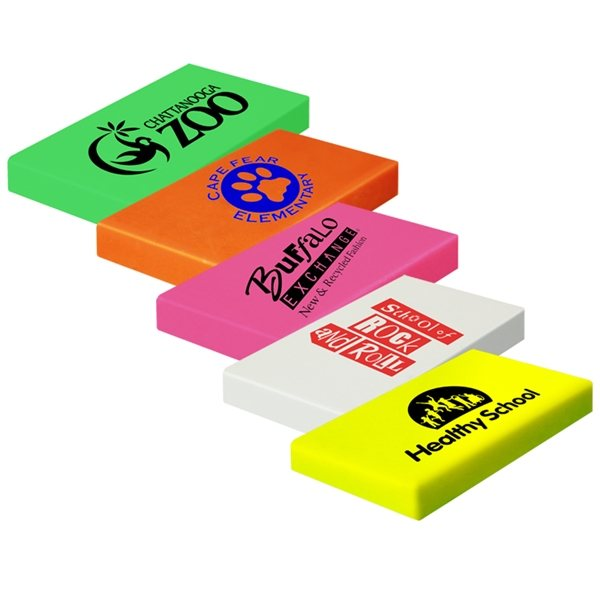 Promotional Rectangle Neon Ersers