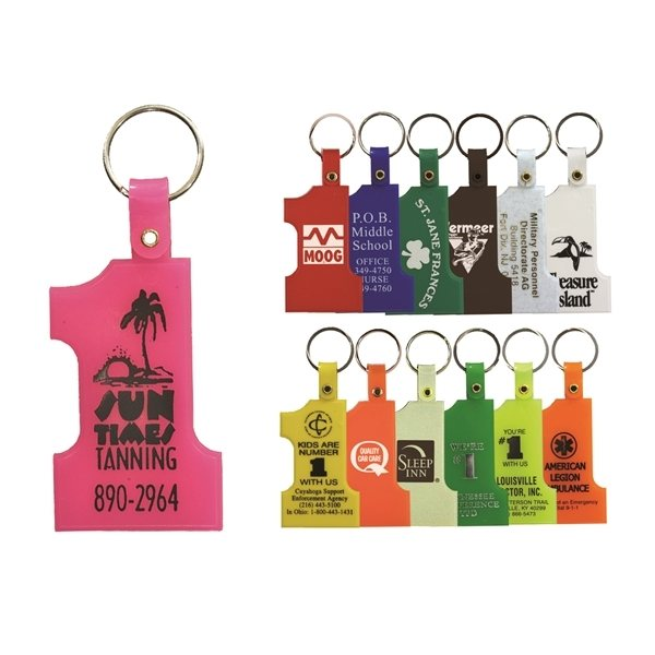 Promotional 1-9/16 W x 2-9/16 H Plastic Number One Key Tag