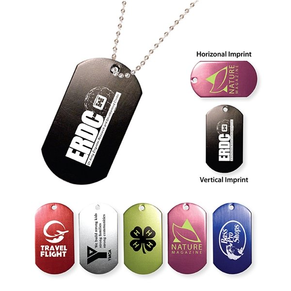 Promotional Metal Dog Tag with 23 1/2 Ball Chain