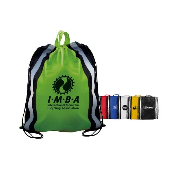 Promotional Non - Woven Reflective Drawstring Backpack