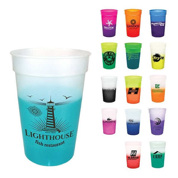 Promotional 17 oz Color Changing Mood Stadium Cup