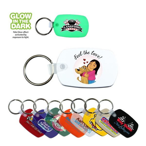 Promotional Standard Key Fob, Full Color Digital