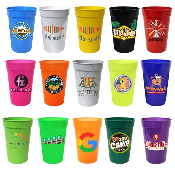 Promotional 17 oz Smooth Stadium Cup, Full Color Digital