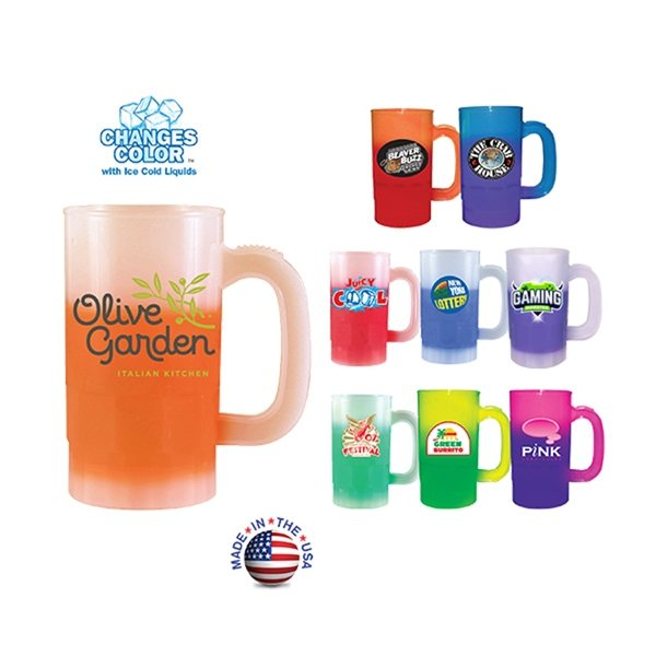 Promotional 14 oz Mood Beer Stein (2 Side), Full Color Digital