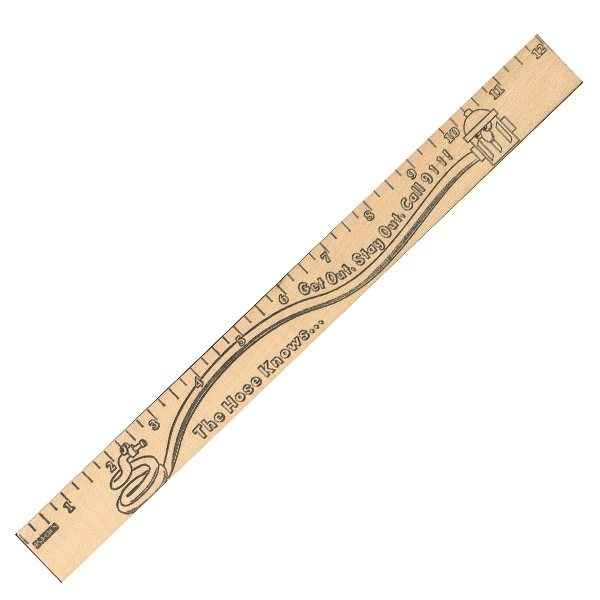 Promotional Get Out / Stay Out U Color Rulers - Natural wood finish