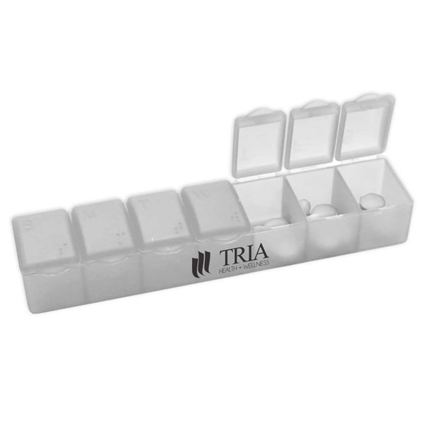 Promotional Travelers 7 Day Plastic Pill Case