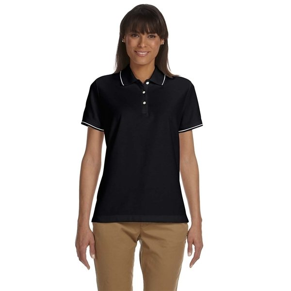 Promotional Devon Jones(R) Pima Piqu Short - Sleeve Tipped Polo