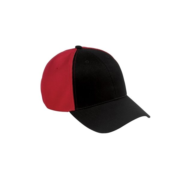 Promotional Big Accessories Old School Baseball Cap with Technical Mesh