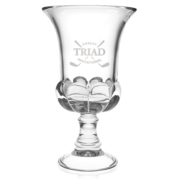 Promotional Medici Clear Crystal Trophy