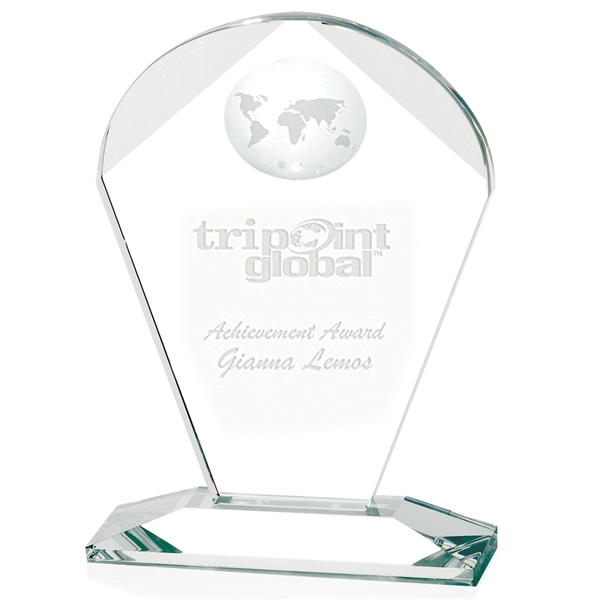 Promotional Geodesic Small Optical Crystal Award - 4x6x2 in