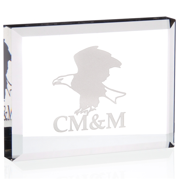 Promotional Rectangle Crystal Paperweight