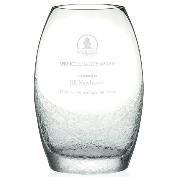 Promotional Winter Snowflake Frost Vase