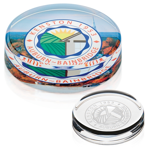 Promotional Round Crystal Paperweight