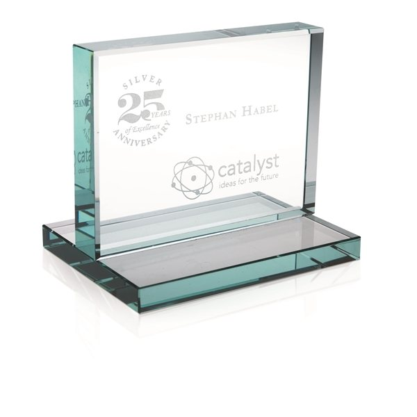 Promotional Jade Award with Jade Base - Horizontal