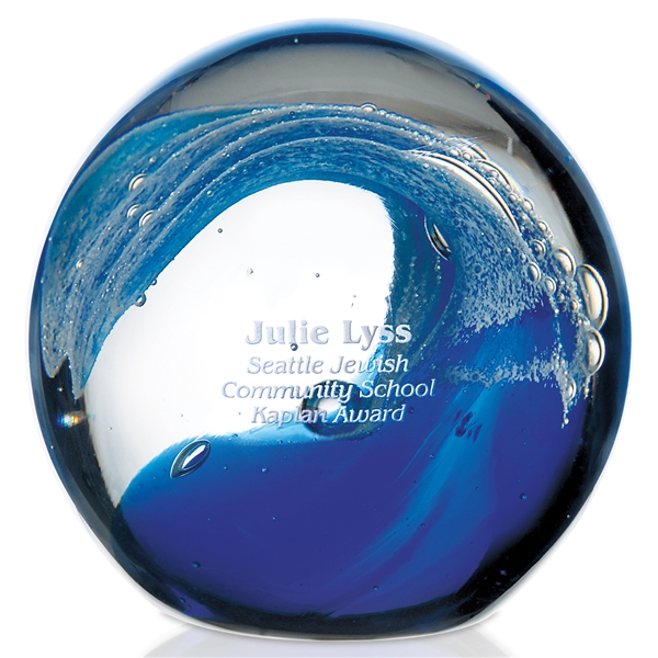 Jaffa Round Glass Wave Award