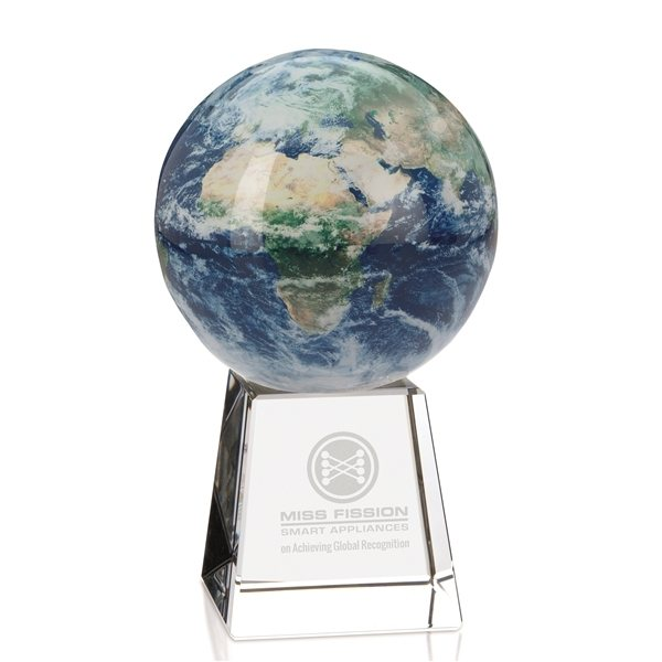 Promotional Rotating Global Award with Stand - 4.5x3 Inch