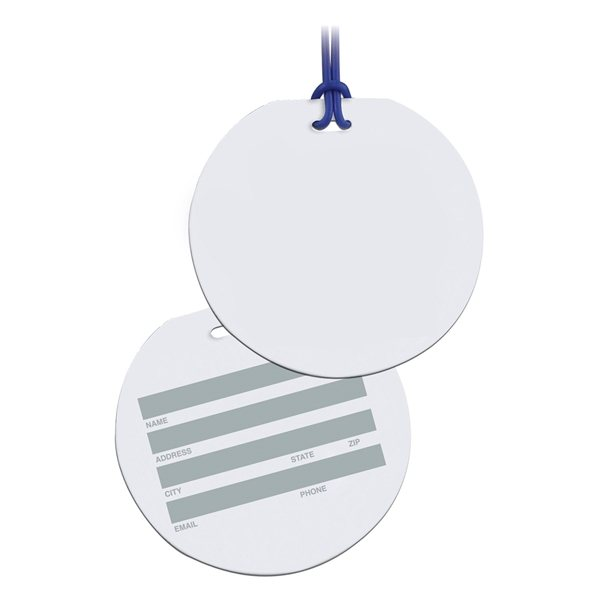 Promotional Round Write On Surface Tag
