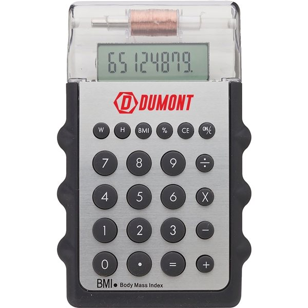 Promotional Motion Calculator with Body Mass Indicator