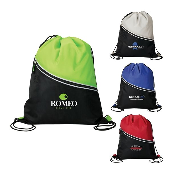 Promotional The Mazzo Drawstring Cooler Bag - 13 x 15.5