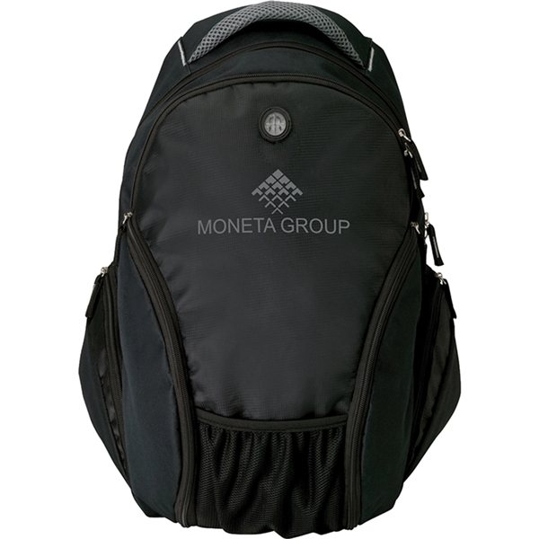 Promotional Black Mauro - Poly Backpack