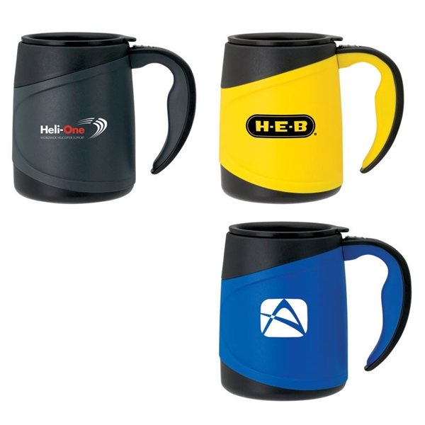 Promotional Olimpio 15 oz. Microwavable Double Wall Mug