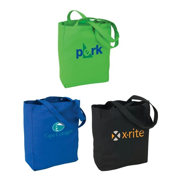 Promotional Soverna Colored Canvas Tote