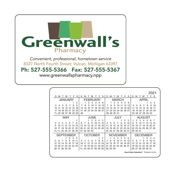 Promotional Wallet Card Horizontal - Good Value Calendars(R)