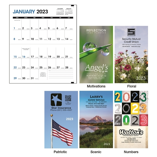 Promotional Colorful Impressions Monthly Pocket Planner - Triumph(R) Calendars