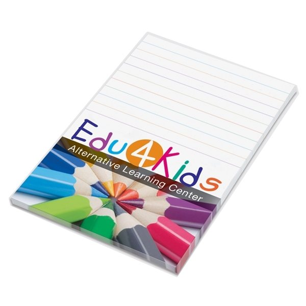 Promotional Post - it(R) Custom Printed Notes Full Color Program 4 x 6, 25- sheets