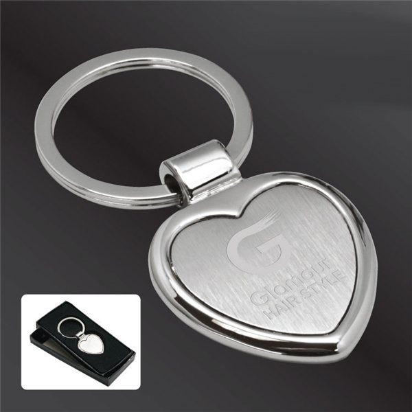 Promotional Cupid Heart Zinc Alloy Key Tag with Gift Box
