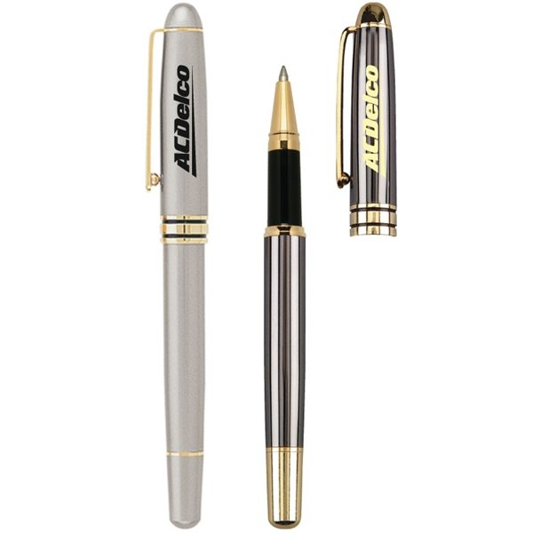 Promotional Capped Brass Roller Pen