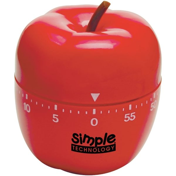 Promotional Plastic Apple - Shaped 60- Minute Timer