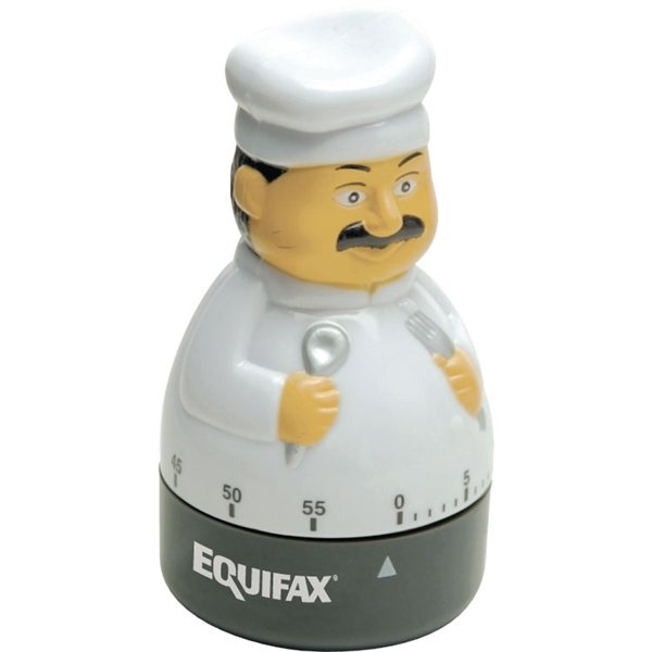 Promotional Gourmet Chef 60- Minute Plastic Timer