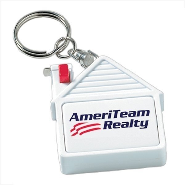 Promotional House Tape Measure Key Tag