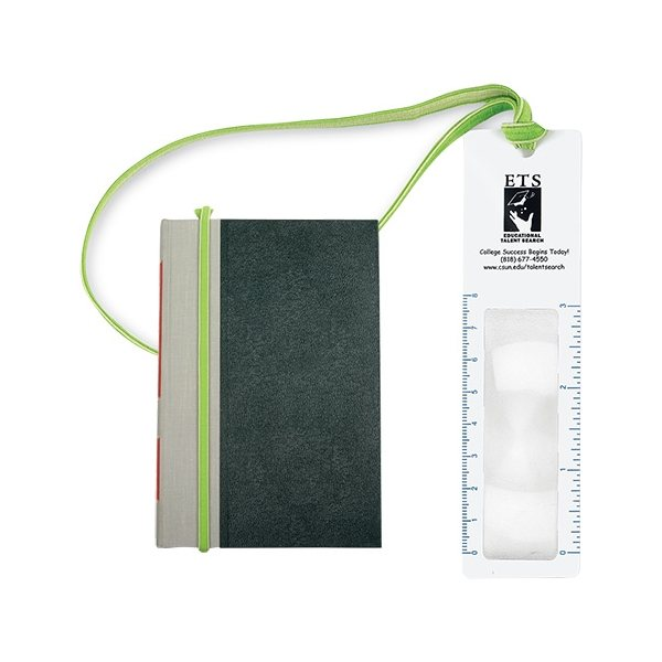 Promotional 3x Magnifier Bookmark with Book Band