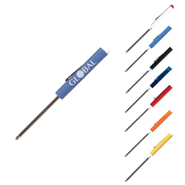 Promotional Reversible 3-4 Standard Screwdriver - 0 Phillips - Button Top