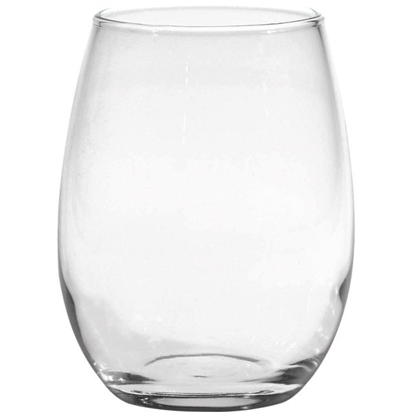 Promotional 15 oz Stemless White Wine - Deep Etched