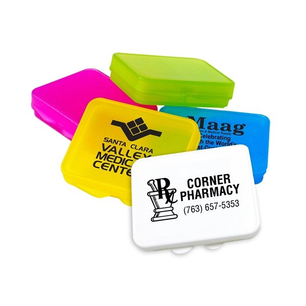 Promotional Pocket And Purse 2- compartment Pill Case